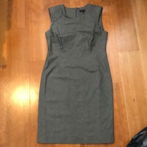 Gray Capped Sleeves Banana Republic Midi Dress